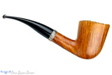 Blue Room Briars is proud to present this Mark Tinsky American Pristine Three Star 1/4 Bent Dublin with Silver Band Unsmoked Estate Pipe