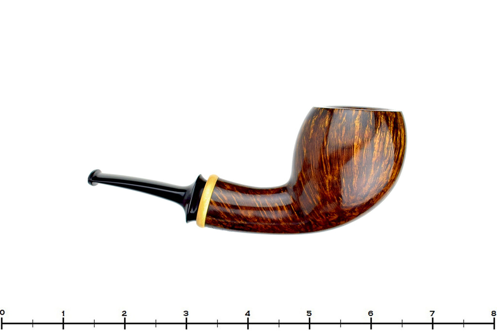 Blue Room Briars is proud to present this Pete Prevost 1/4 Bent Pear with Boxwood Estate Pipe