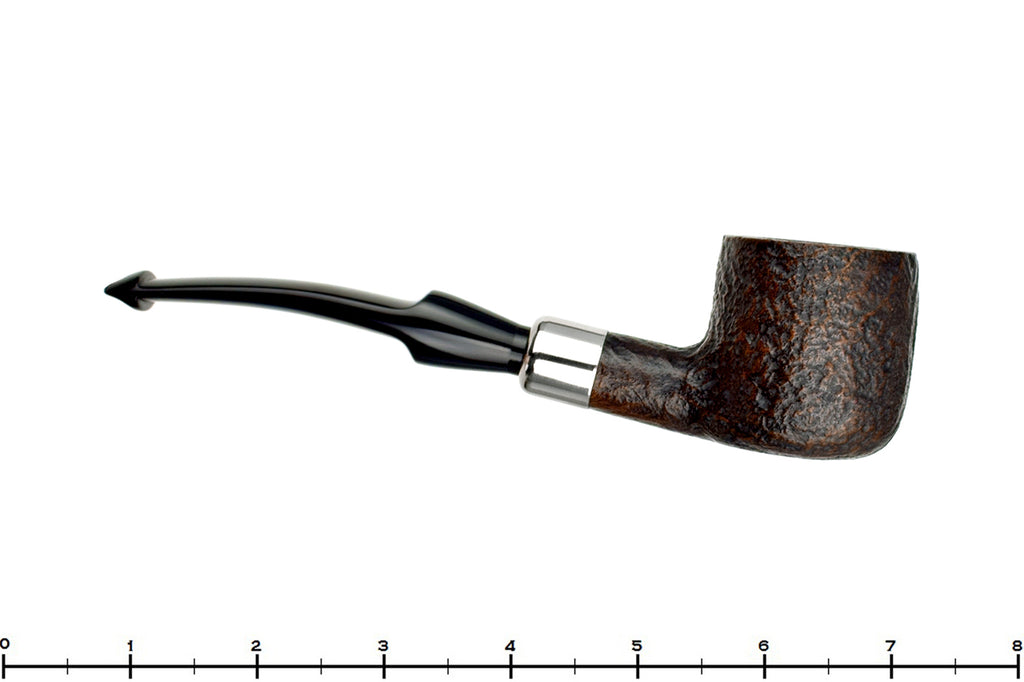 Blue Room Briars is proud to present this Savinelli Dry System 2121 Sandblast Pot (6mm Filter) with Nickel Sitter Estate Pipe