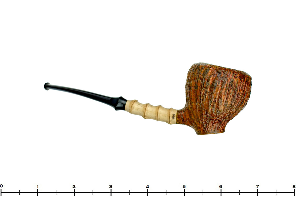 Blue Room Briars is Proud to Present this Nate King Pipe 518 High Contrast Sandblast Standing Pear with Bamboo and Plateau