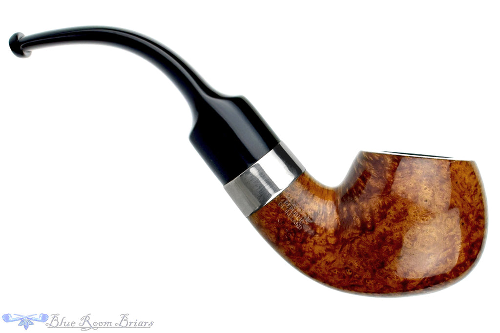 Blue Room Briars is Proud to Present this Peterson 4th of July (2000 Make) XL02 3/4 Bent Apple with Nickel Band and Fishtail Estate Pipe