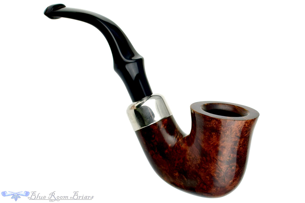 Blue Room Briars is proud to present this Peterson System Standard 305 3/4 Bent Bell Dublin with Nickel Shank Cap Estate Pipe