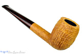 Blue Room Briars is proud to present this Clark Layton Pipe Tan Blast Billiard with Brindle