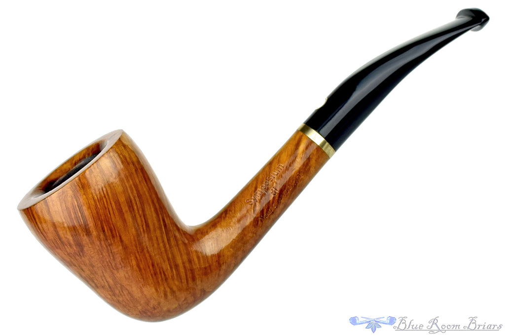 Blue Room Briars is proud to present this Mauro Armellini 812 1/4 Bent Pear with Brass Band Estate Pipe