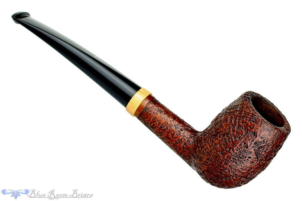 Blue Room Briars is proud to present this Le Nuvole 13 S2 Sandblast Billiard with Boxwood Band Estate Pipe