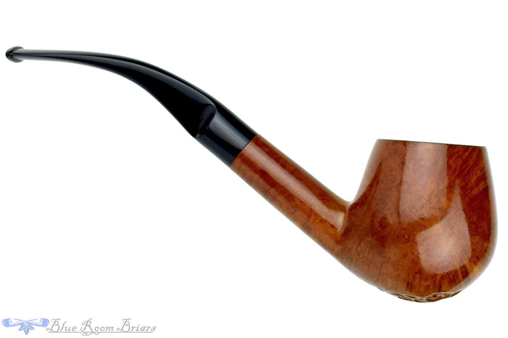Blue Room Briars is proud to present this Imported Briar 1/2 Bent Partial Carved Large Egg Estate Pipe