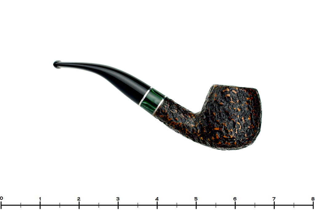 Blue Room Briars is Proud to Present this Savinelli Impero 636 KS (6mm Filter) 1/2 Bent Apple with Acrylic Band Estate Pipe