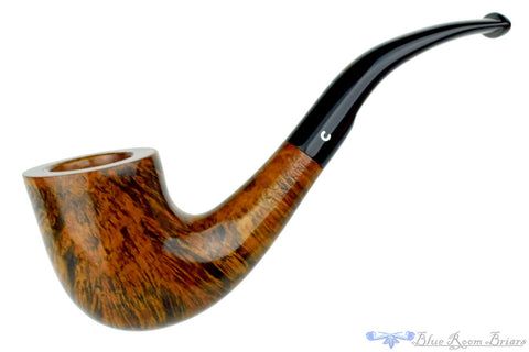 Luigi Viprati 5 Clover 1/4 Bent Partially Rusticated Rhodesian Estate Pipe