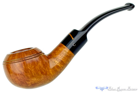 Charatan 402 Sandblast Canadian with Nickel Band Estate Pipe