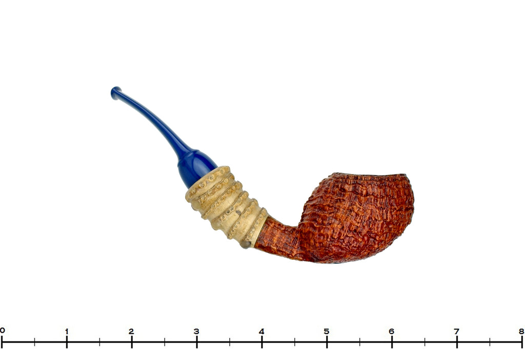 Blue Room Briars is Proud to Present this Nate King Pipe Mid-Contrast Ring Blast Racing Apple with Bamboo