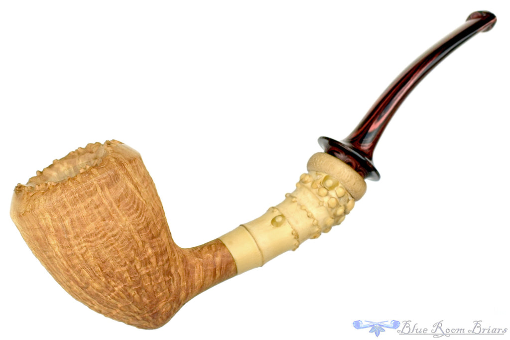 Blue Room Briars is proud to present this Jesek Pipes (Martin Paljesek) Natural Ringblast Acorn with Bamboo and Primavera Wood