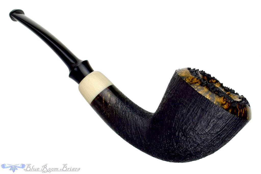 Jesek Pipes (Martin Paljesek) 1/4 Bent Sandblast Dublin with Faux Ivory and Plateau