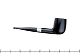 Blue Room Briars is proud to present this Stanwell 72 Dress Black Billiard with Silver Band Estate Pipe