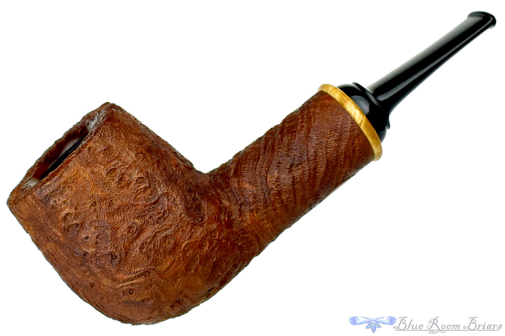 Premal Chheda and Nate King Collaboration (2013 Make) Sandblast Strawberry Wood Magnum Billiard with Ring Estate Pipe