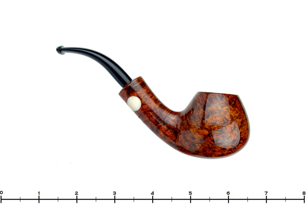 Blue Room Briars is proud to present this Erik Nording Handmade 1997 1/2 Bent Brandy with Acrylic Insert Estate Pipe