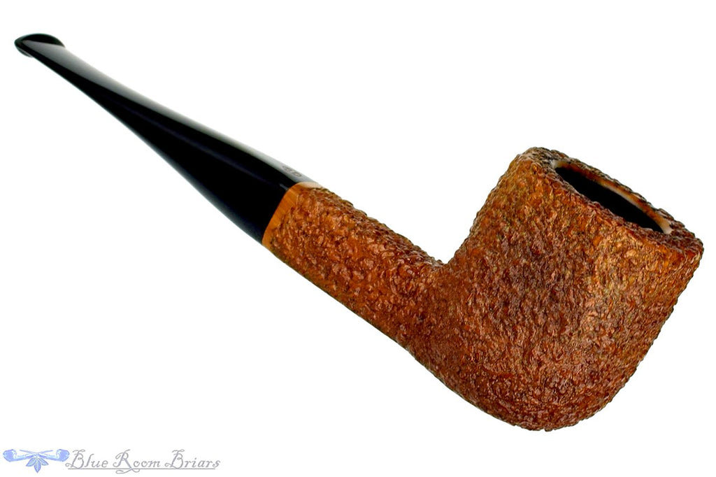 Blue Room Briars is proud to present this James Upshall FH Tan Carved Four Square Estate Pipe