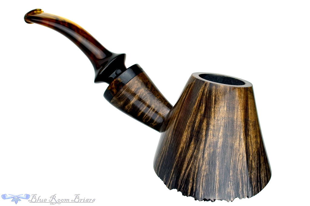 Blue Room Briars is proud to present this Blue Room Briars is proud to present this Marinko Neralić Pipe (376/19) 1/4 Bent Tipsy Volcano with Tobacco Ring and Plateau