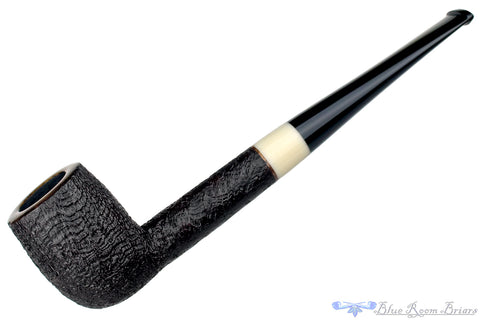 Jerry Crawford Pipe Tan Blast Apple with Ox Horn