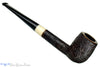 Jerry Crawford Pipe Sandblast Bing Billiard with Ivorite Inlay