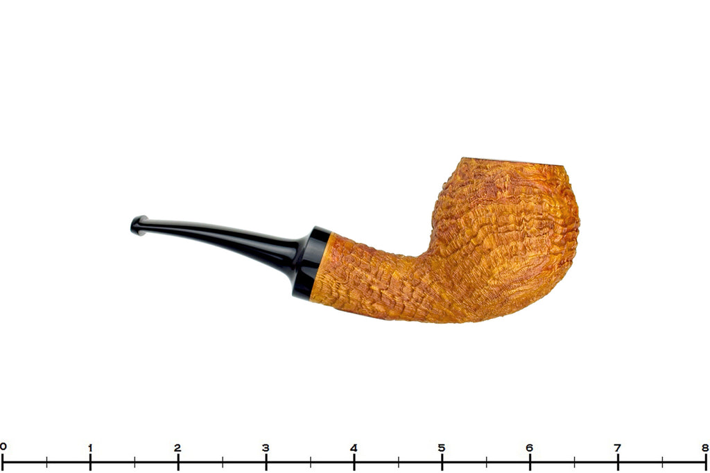 Blue Room Briars is proud to present this Jerry Crawford Pipe 1/4 Bent Golden Ring Blast Egg