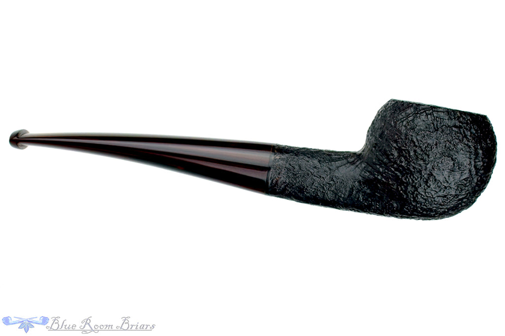 Blue Room Briars is proud to present this Jerry Crawford Pipe Black Blast Squat Apple with Brindle