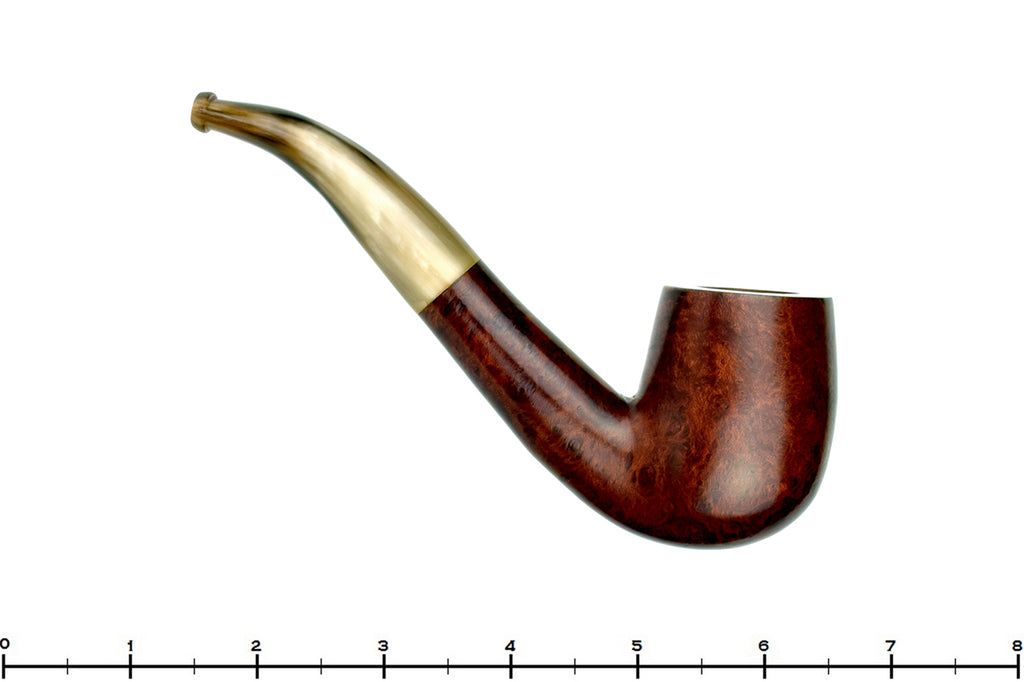 Blue Room Briars is proud to present this Genod Pipe 1/2 Bent Billiard with Horn Stem