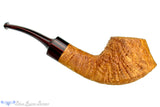 Blue Room Briars is proud to present this Clark Layton Pipe 1/2 Bent Tan Blast Strawberry Wood Volcano with Brindle