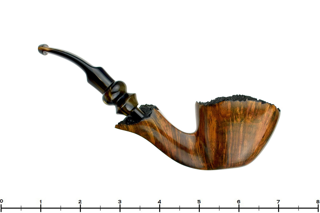 Blue Room Briars is proud to present this Ben Wade Golden Mat 1/2 Bent Freehand with Plateaux Estate Pipe