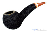 Blue Room Briars is proud to present this Dr. Bob Pipe Black Carved Hawkbill with Ivorite Insert and Brindle