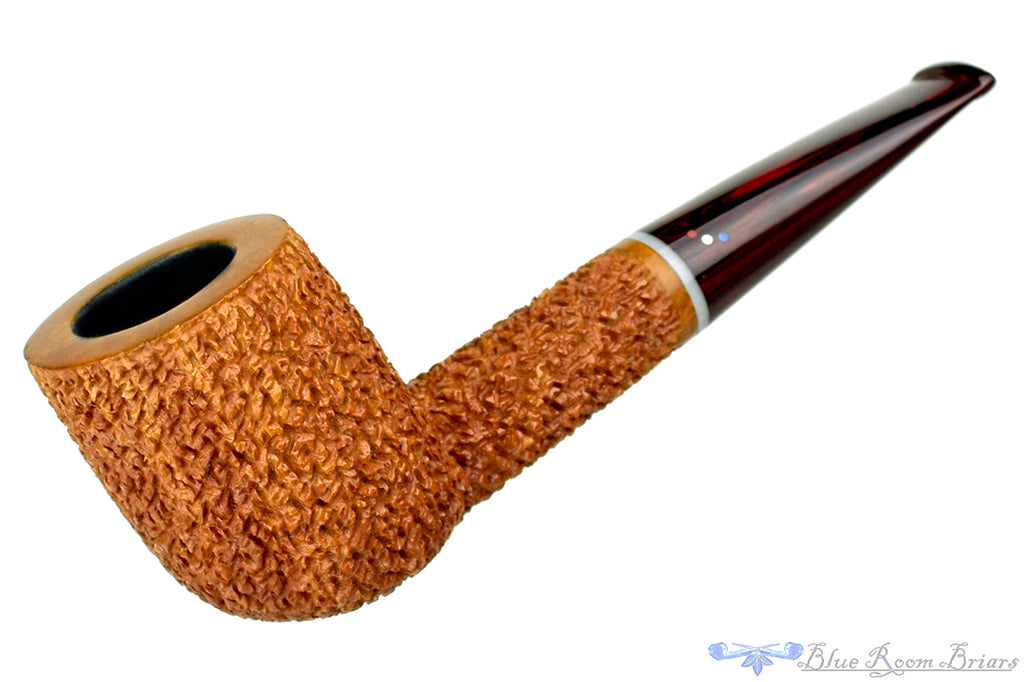 Blue Room Briars is proud to present this Dr. Bob Pipe Carved Tan Billiard with Acrylic Insert and Brindle