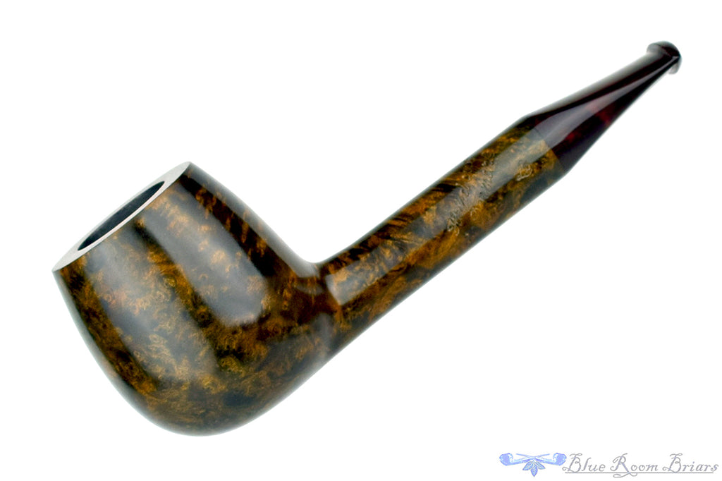 Leo Borgart Apple with Brindle Stem UNSMOKED Estate Pipe