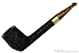 Blue Room Briars is Proud to Present this Andrea Gigliucci Pipe Rought Carved Liverpool with Brass Band and Brown Brindle Stem