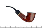 Blue Room Briars is proud to present this Molina 73 1/2 Bent Diamond Shank Dublin with Brass Estate Pipe