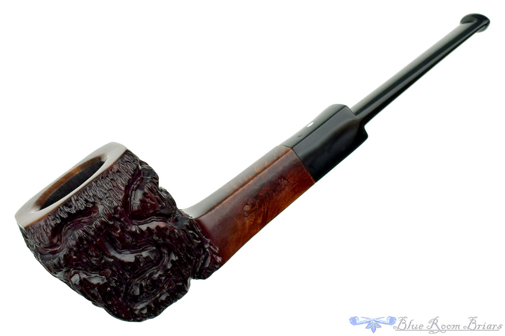 Edward's Partial Rusticated Four Square Rhodesian Sitter Estate Pipe