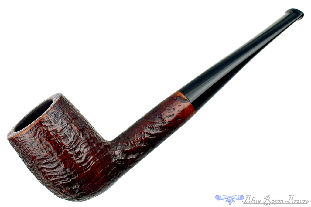 Blue Room Briars is proud to present this BBB 602 Sandblast Billiard Sitter Estate Pipe