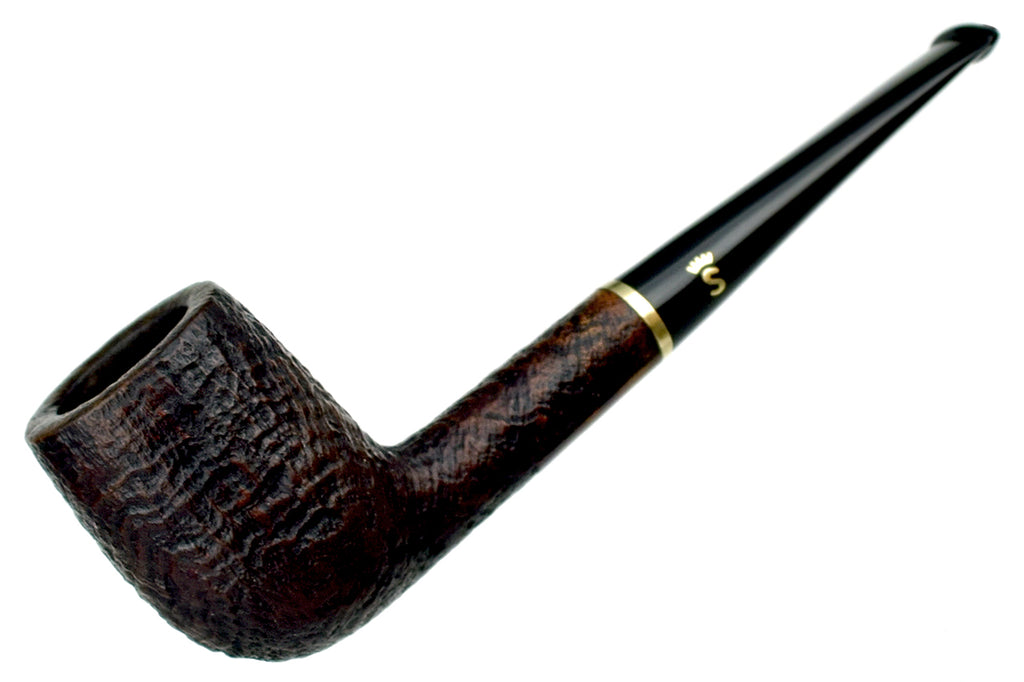 Blue Room Briars is Proud to Present this Stanwell DM (1993 Make) Sandblast Billiard with Brass Shank Cap Estate Pipe
