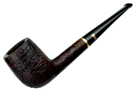 Saga Pipes 1/2 Bent Sandblast Brandy Sitter Estate Pipe