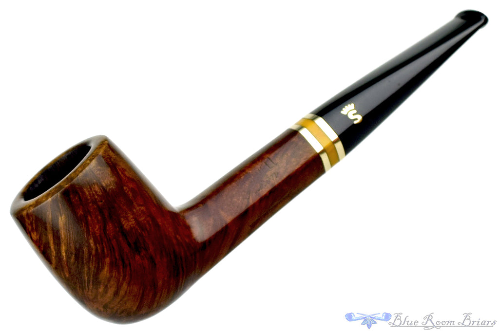 Blue Room Briars is Proud to Present this Stanwell Maron 190 Hexagonal Shank Billiard with Brass and Acrylic Band Estate Pipe