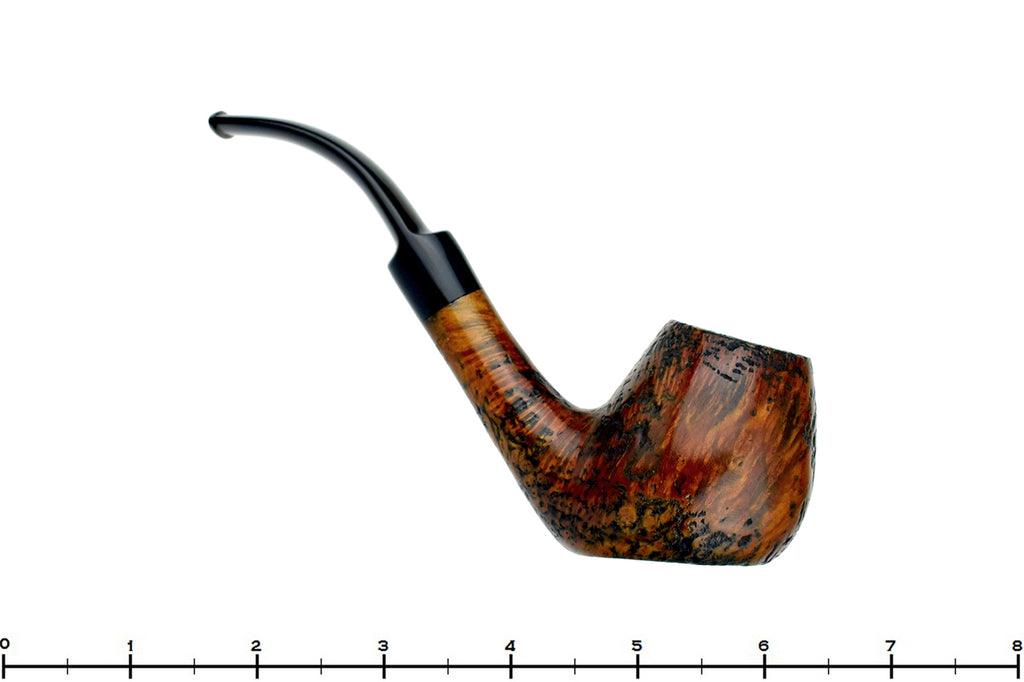 Blue Room Briars is Proud to Present this Saga Pipes 1/2 Bent Sandblast Brandy Sitter Estate Pipe