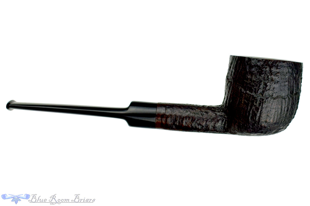 Blue Room Briars is proud to present this GBD Prehistoric 9437 Sandblast Pot Sitter with Replacement Tenon Estate Pipe
