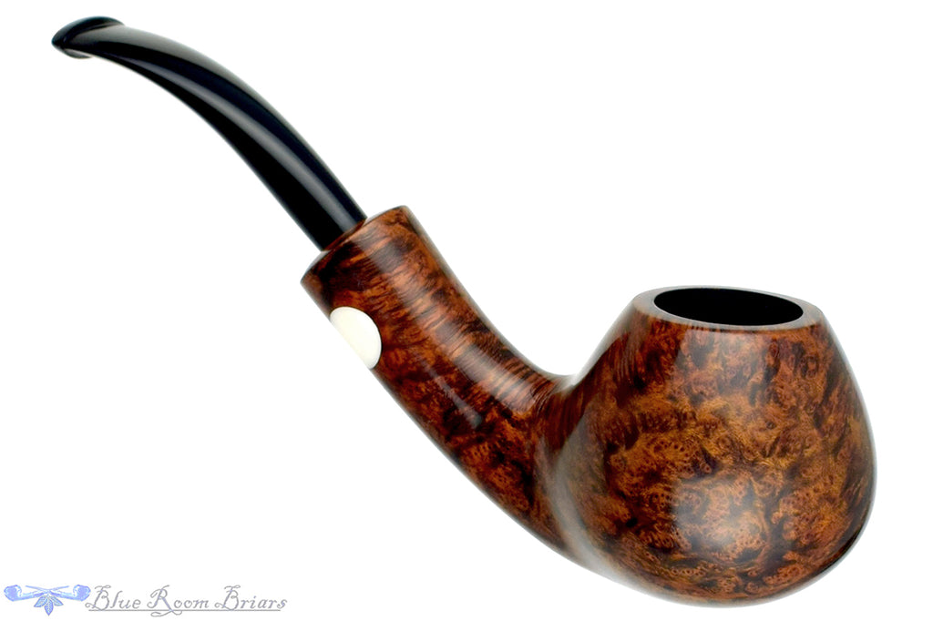 Erik Nording Handmade 1997 1/2 Bent Brandy with Acrylic Insert Estate Pipe