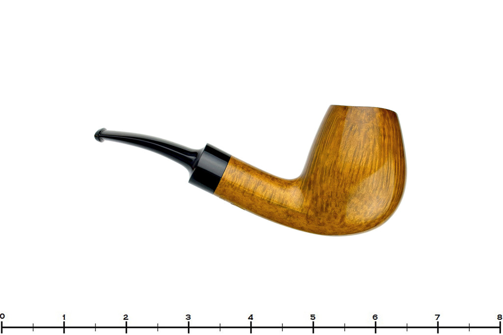 Blue Room Briars is proud to present this Bill Walther Pipe 1/4 Bent Pear Sitter with Cat's Eye Shank