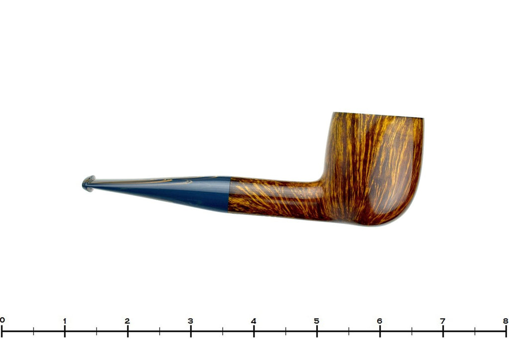 Blue Room Briars is proud to present this Bill Walther Pipe Pot Sitter with Blue Brindle Stem