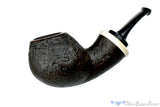 Blue Room Briars is proud to present this Dirk Heinemann Pipe 1/2 Bent Black Blast Danish Apple with Faux Ivory Accent