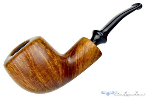 Nate King Pipe 603 Mid-Contrast Sandblast Reverse Calabash Royal Egg with Bakelite