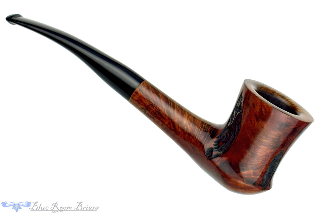 Blue Room Briars is proud to present this Butz-Choquin Roquebrune 1845 1/4 Bent Spot Carved Dublin and Saucer Estate Pipe