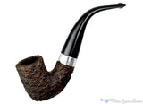 Blue Room Briars is proud to present this Peterson Donegal Rocky XL339 3/4 Bent Rusticated Billiard with Silver and P-Lip Estate Pipe