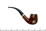 Blue Room Briars is proud to present this Jobey Charcoal Filter 145X 1/2 Bent Billiard with 14k Gold Filled Band Estate Pipe
