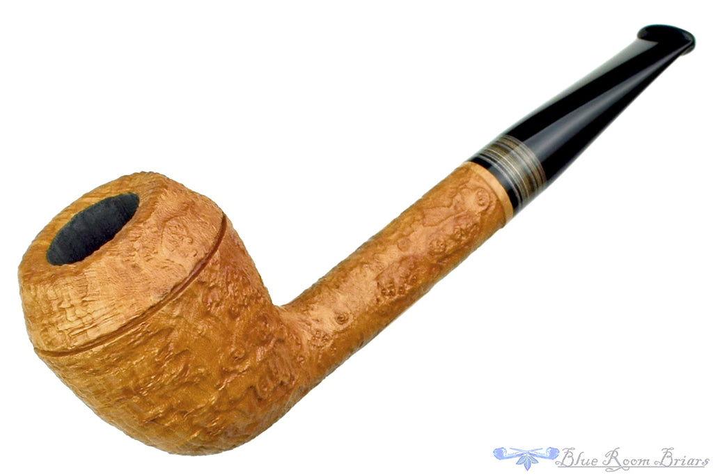 Blue Room Briars is proud to present this Bill Shalosky 472 Tan Blast Rhodesian with Fordite