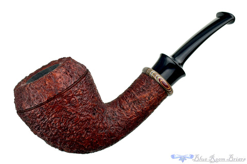 Bill Shalosky Pipe 313 Ring Blast Stout Windshield Billiard with Fordite